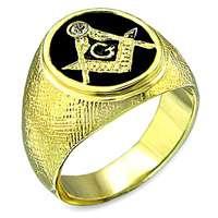 WHOLESALE 12 PIECE LOT MASONIC MASON 18KT GOLD GP MENS RINGS ROUND