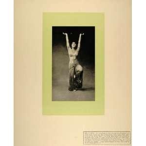 1912 Print Sahary Djeli Belly Dancer Costume Salome   Original Print