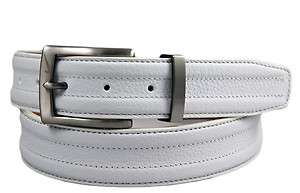Nike Golf G Flex Mens White Leather Golf Belt Sizes 32   42
