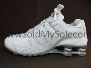 Nike Shox NZ SL White Silver Leather Womens Turbo New Running Sz 6