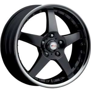 MSR 138 17x7.5 Black Wheel / Rim 5x120 with a 42mm Offset and a 72.64