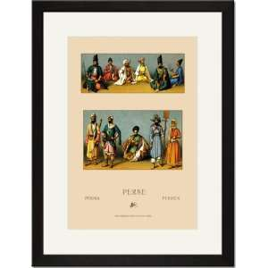 /Matted Print 17x23, Traditional Dress of Persia #3: Home & Kitchen