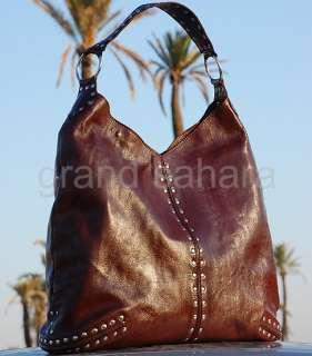 Grand Sahara Handbag Genuine Leather studded Hobo g64