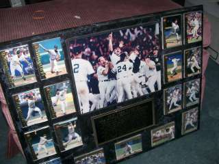 New York Yankee 1996 World Series Champions Plaque w/players