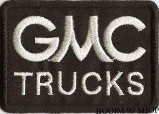 GMC TRUCKS LOGO EMBROIDERED IRON ON Patch T Shirt Sew