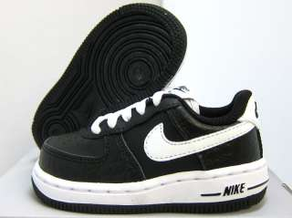 NEW BABY NIKE AIR FORCE 1 BLACK [314194 037] TODDLERS