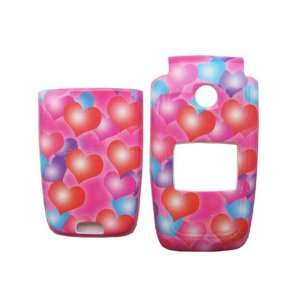 for Nokia 6101 6102 6103 hard case faceplate PINK LOVE HEARTS (more