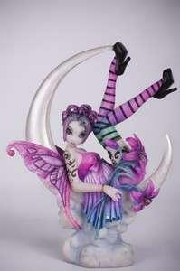 Myka Jelina Gothic Fairy Angel Paige Lunar Crescent Flower Statue
