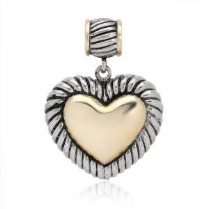 CleverSilvers Gold Plated Silver Heart Pendant