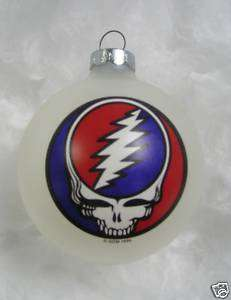 Grateful Dead Steal Your Face Ornament NEW 1996 white