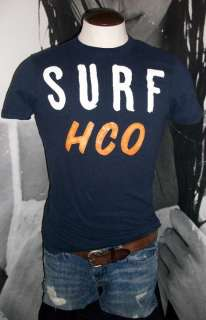 Hollister Surf HCO Mens Navy Blue Shirt Tee M NWT