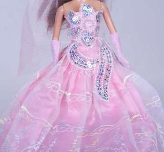 BARBIE DOLL DRESSES CLOTHES GWON GLOVES