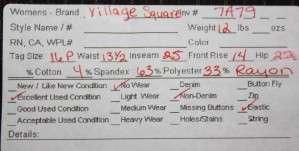 Village Square sz 16P 16 Petite Womens Dress Pants 7A79