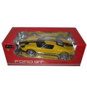 Remote Control RC Ford GT Yellow 1/18 Scale Toys & Games