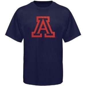 NCAA Arizona Wildcats Navy Blue Logo One T shirt (X Large