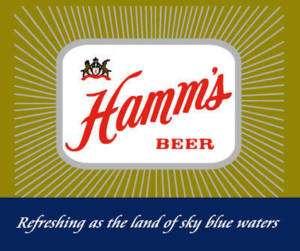 Hamms Beer Tee Shirt   50s Logo