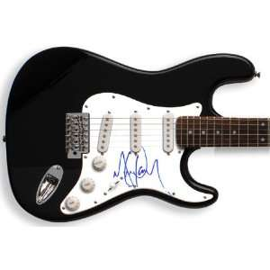 Michael Jackson Autographed Signed Guitar & Proof PSA/DNA