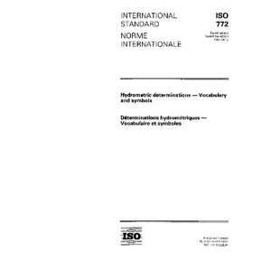Vocabulary and symbols ISO TC 113/SC 3  Books