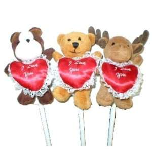 Happy Valentines Day Plush Animal Pencil Asst. Case Pack