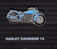 Harley Davidson 74 1930 Motorcycle moto pin badge 1200