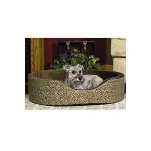 K&H Oval Mocha Paws Cuddle Dog Sleeper small  14 length x