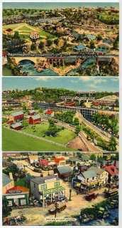 Roadside America Miniature Village PA 3 Postcards