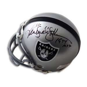 Ken Stabler Signed Raiders Mini Helmet   Snake, 1974 MVP