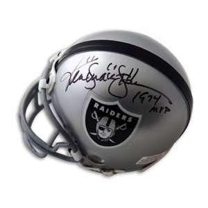 Ken Stabler Signed Raiders Mini Helmet   Snake, 1974 MVP