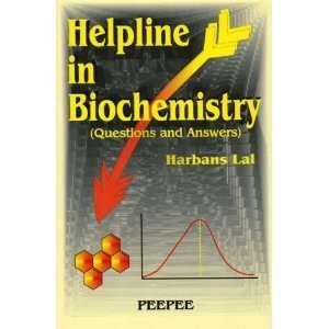 Helpline in Biochemistry (9788188867417) Harbans Lal Books