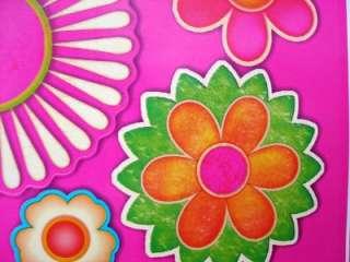 4pc HAPPY FLOWERS PINK TODDLER GIRL BED/COMFORTER++SHEET SET++BONUS