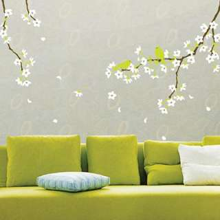 WHITE PEAR BLOSSOMS Mural Art Wall Sticker Vinyl Decals
