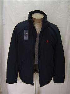 New L Polo Pony Ralph Lauren Mens Hooded Jacket Coat Zip Fleece Black