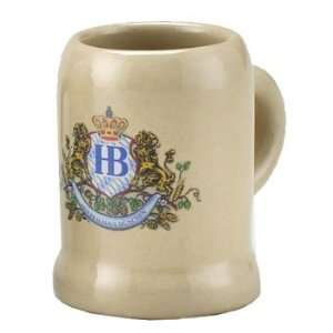 1 oz Hofbrauhaus HB with Lion Motif Ceramic Beer Stein