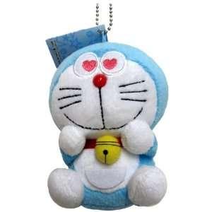 Doraemon Plush Swing Keychain   4 Heart Eyes Doraemon Toys & Games
