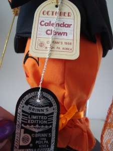 Brinns Calendar Clown Doll October 14 Tall |
