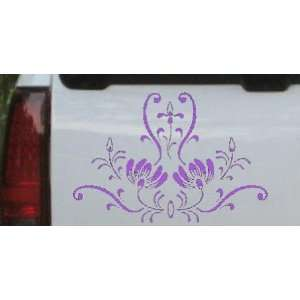 Door Accent Flowers And Vines Car Window Wall Laptop Decal Sticker