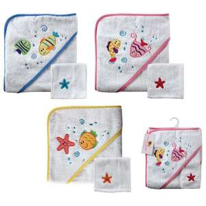 Luvable Friends Baby Hooded Towel & Washcloth