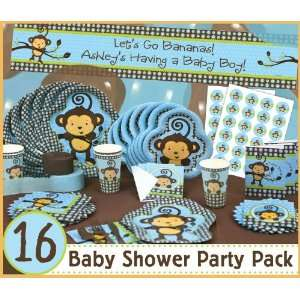 Monkey Boy   16 Baby Shower Party Pack Toys & Games