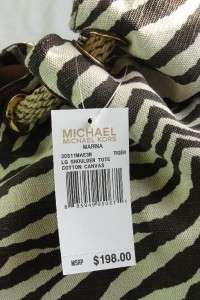 NWT New Michael Kors Marina Canvas Tiger LG Shoulder bag tote