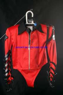 MICHAEL JACKSON RED BAD TOUR JACKET SHIRT Pro Series