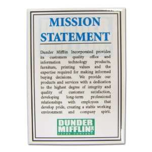 The Office Dunder Mifflin Mission Statement Magnet
