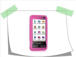 PINK SAMSUNG I900 OMNIA SILICONE SKIN CASE COVER CELL
