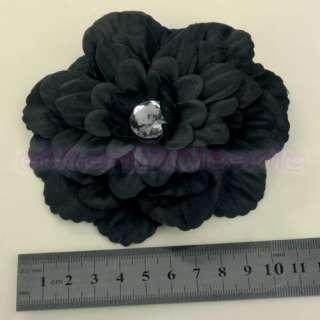 Lady/Baby Rhinestone Peony Flower Hair Clip # free ship