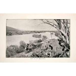 1893 Print Lerma River Mexico Train Railroad Railway Track