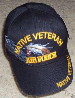 AIR FORCE USAF INDIAN NATIVE PRIDE VETERAN VET CAP HAT