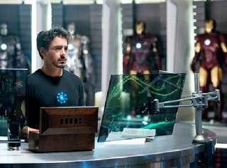 Marvel Comics Iron Man 2 Movie Heart Core T Shirt, NEW