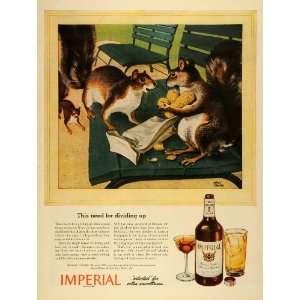 1944 Ad Hiram Walker & Sons Imperial Blended Whiskey