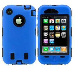 NEW Blue Silicone Rubber Soft Skin Cover Hard Case Protect For iPhone