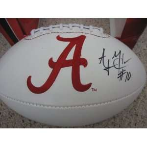 A J McCarron Signed Autographed Alabama Logo Football