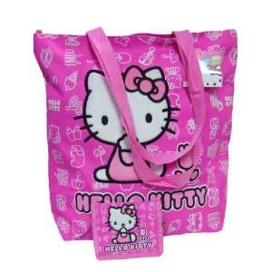 New Hello Kitty Tote Bag Pink & Tri fold Wallet Toys